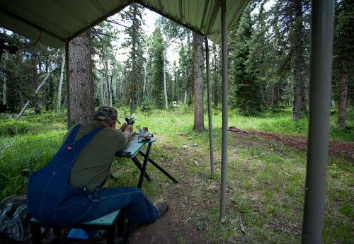 Rifle range to prepare for your elk hunt at our camp.